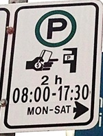 Time Restriction Sign